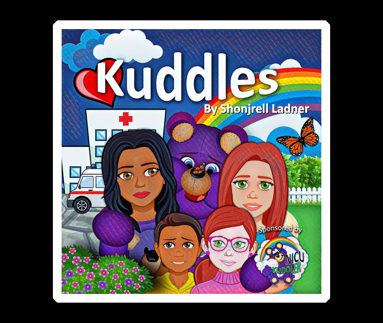 "Our new book, ""Kuddles."""